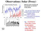 observations solar proxy