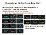 observations stellar solar type stars