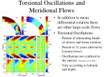 torsional oscillations and meridional flows