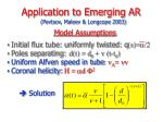 application to emerging ar1