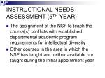 instructional needs assessment 5 th year1