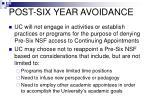 post six year avoidance
