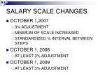salary scale changes