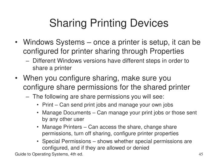 Sharing Printing Devices