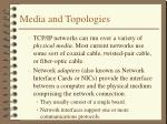 media and topologies