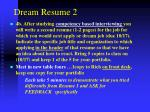 dream resume 2