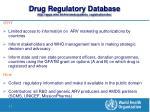 drug regulatory database http apps who int hiv amds patents registration drs