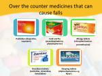 over the counter medicines that can cause falls
