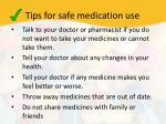 tips for safe medication use1