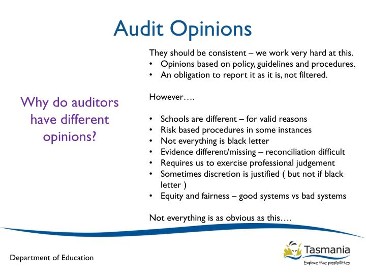 Audit Opinions