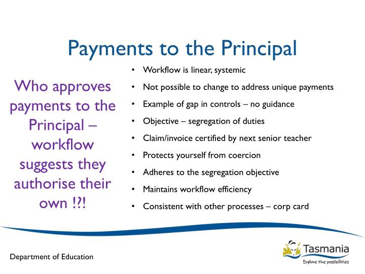 Payments to the Principal