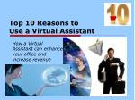 top 10 reasons to use a virtual assistant
