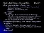 csse463 image recognition day 31