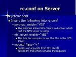 rc conf on server