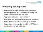 preparing for appraisal