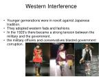 western interference