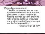 session 1 why small groups2