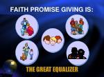 faith promise giving is