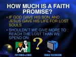 how much is a faith promise