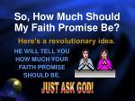 so how much should my faith promise be