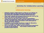 activities for collaborative learning