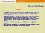 course readings 1