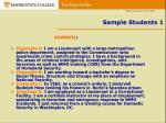 sample students 1