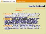 sample students 2
