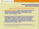social constructivism and instructional models