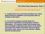 the role play scenario part 1