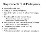 requirements of all participants