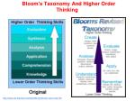 bloom s taxonomy and higher order thinking