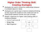 higher order thinking skill creating analogies