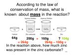 according to the law of conservation of mass what is known about mass in the reaction