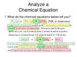 analyze a chemical equation1