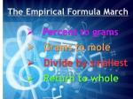 the empirical formula march
