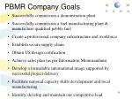 pbmr company goals