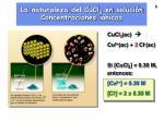la naturaleza del cucl 2 en soluci n concentraciones i nicas