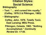 citation styles social science