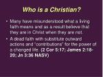 who is a christian5