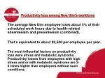 productivity loss among new ulm s workforce