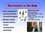 electrolytes in the body