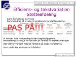 efficiens og takstvariation st tteafdeling