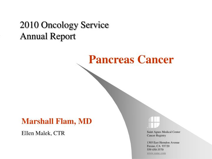 2010 oncology service annual report n.