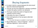buying fragments
