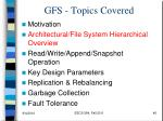gfs topics covered1