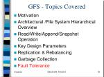 gfs topics covered5