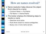 how are names resolved