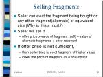 selling fragments