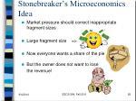 stonebreaker s microeconomics idea
